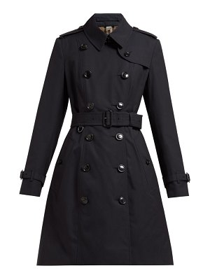 Burberry chelsea double-breasted cotton trench coat