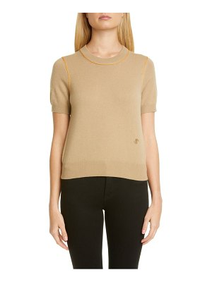 Burberry constance tb monogram piped cashmere sweater