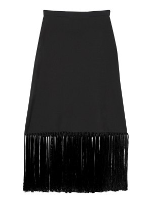 Burberry Cool mohair midi skirt w/ fringes