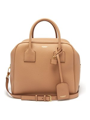 Burberry cube medium grained leather bowling bag
