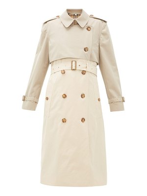 Burberry deighton two-tone cotton-gabardine trench coat