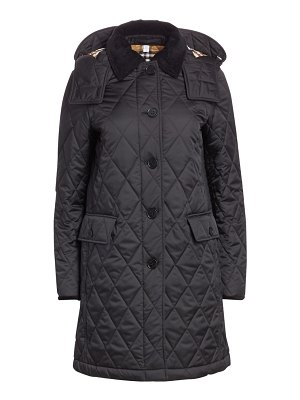 Burberry dereham quilted hooded coat