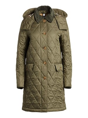 Burberry dereham quilted single-breasted coat
