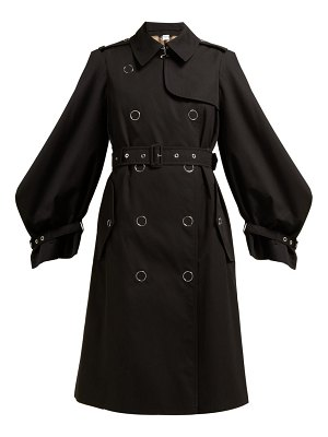 Burberry double breasted cotton gabardine trench coat