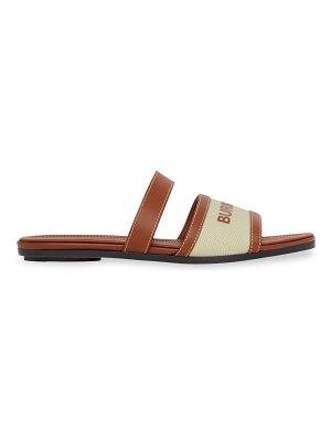 Burberry double strap leather sandals