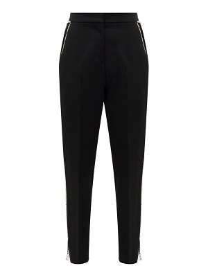 Burberry draped-chain virgin-wool tailored trousers