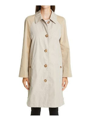 Burberry ely two-tone reconstructed car coat