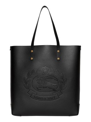 Burberry embossed crest large leather tote