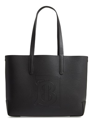 Burberry embossed monogram leather tote