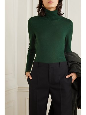 Burberry embroidered cashmere and silk-blend turtleneck sweater
