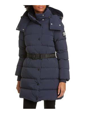 Burberry eppingham belted down puffer coat