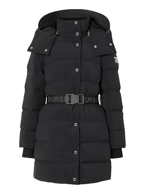 Burberry eppingham short belted puffer coat