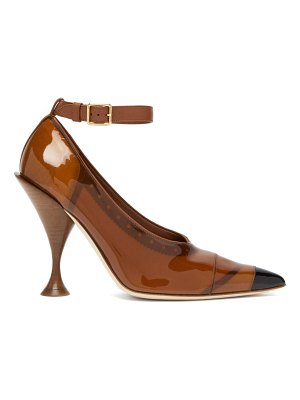 Burberry evan pvc coated leather pumps