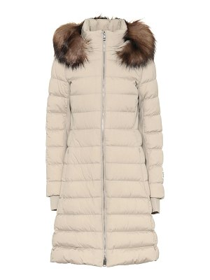 Burberry faux-fur trimmed down coat