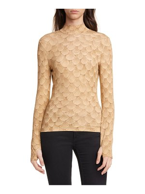 Burberry fish scale print jersey top