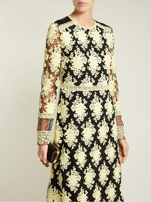 Burberry Floral Embroidered Mesh Dress