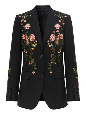 Burberry Floral Embroidered Wool Jacket