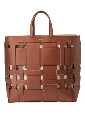 Burberry Foster Large Woven Tote Bag