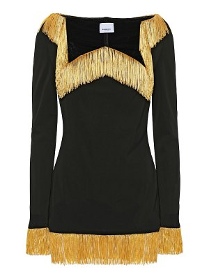 Burberry fringed jersey top