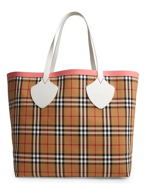 Burberry giant check reversible tote