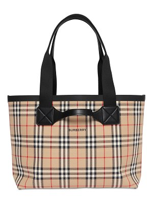 Burberry Giant md vintage check canvas tote