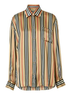 Burberry godwit icon stripe silk shirt