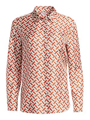Burberry godwit monogram silk blouse