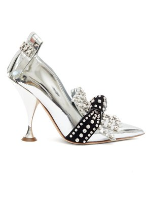 Burberry goodall crystal-embellished patent-leather pumps