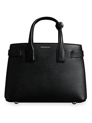 Burberry small banner leather satchel