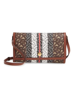 Burberry hannah tb monogram canvas clutch