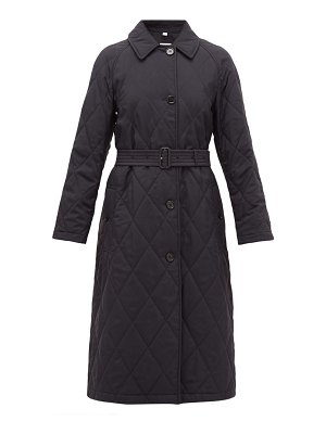 Burberry helsington belted single-breasted quilted coat