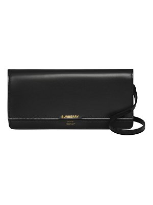 Burberry hooke horseferry leather clutch