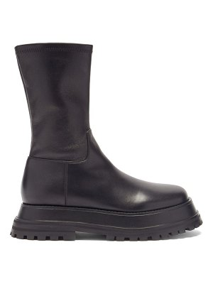 Burberry hurr exaggerated-sole leather ankle boots