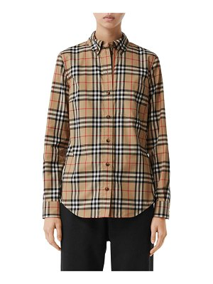 Burberry Lapwing checked stretch poplin shirt