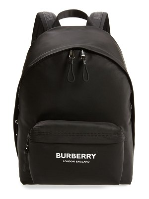 Burberry jett logo nylon backpack