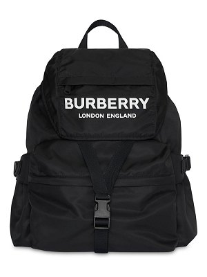 Burberry Large wilfin printed logo nylon backpack