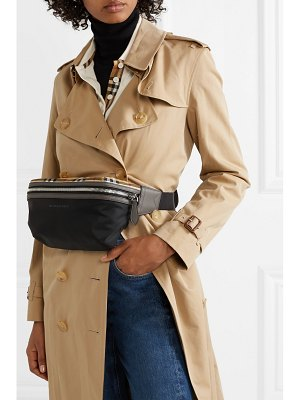 Burberry leather-trimmed checked shell belt bag