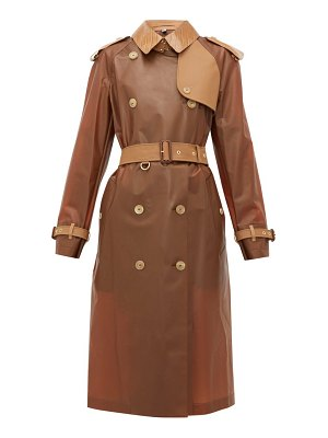 Burberry leather trimmed pu trench