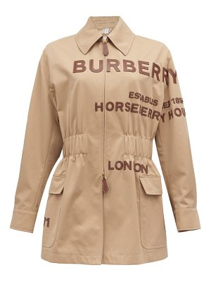 Burberry logo-appliqué zip-through jacket