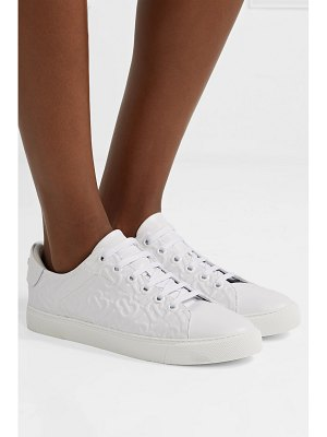 Burberry logo-embossed leather sneakers