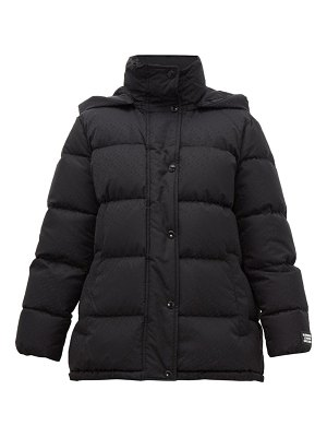 Burberry logo-jacquard quilted hooded jacket