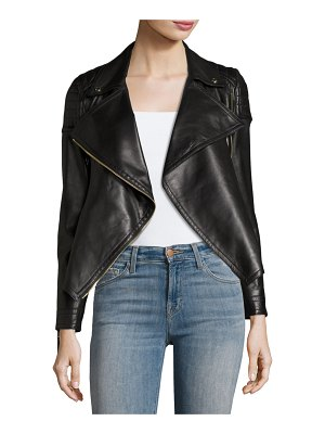 Burberry Lydbry Leather Biker Jacket