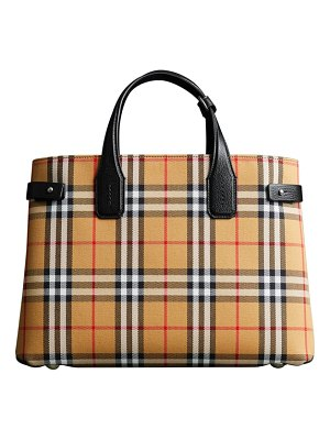 Burberry medium banner leather tote
