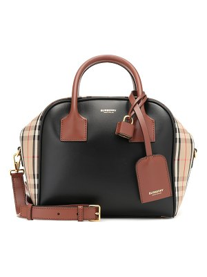 Burberry medium cube leather-trimmed tote