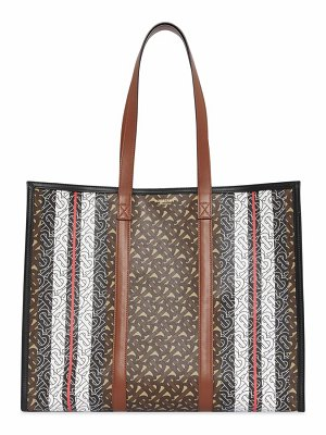 Burberry medium monogram stripe tote