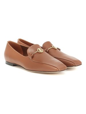 Burberry monogram leather loafers