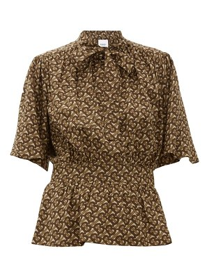 Burberry monogram-print silk blouse