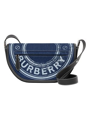 Burberry Olympia Small Logo-Graphic Denim Shoulder Bag