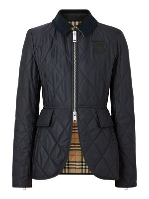 Burberry ongra quilted short equestrian jacket