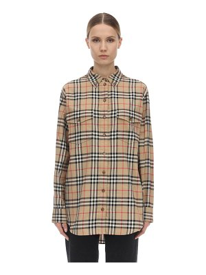 Burberry Oversize checked cotton poplin shirt